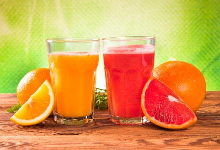 Fresh juice,Healthy drink on wood  photo