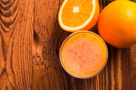 Fresh juice,Healthy drink on wood  photo