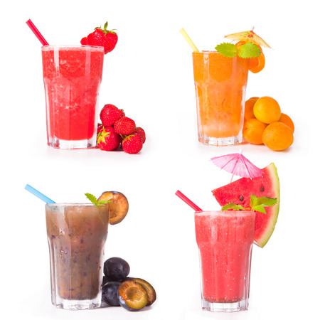 juice collection Stock Photo