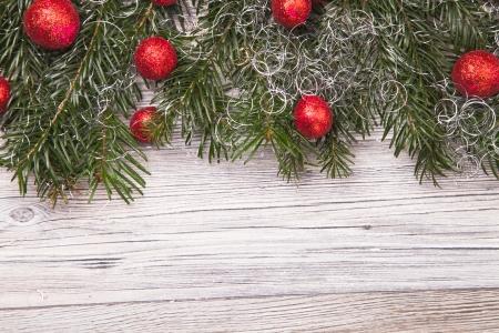 Christmas decoration on wood, christmas background photo