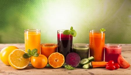 beet juice: fresh juice on wood Stock Photo