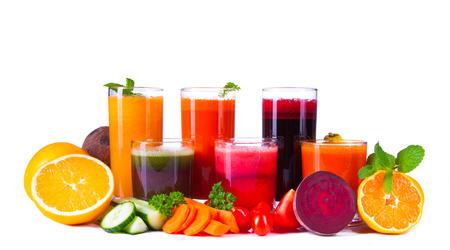fresh juice on wood Stock Photo