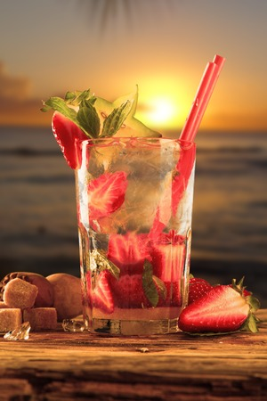 mix fruit drink photo