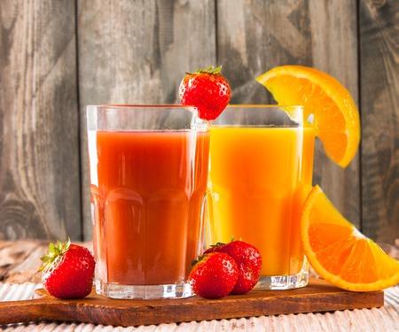 strawberry: healthy juice