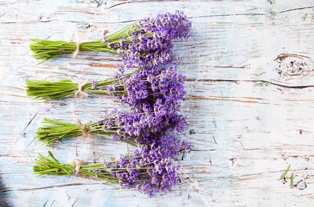 downtime: lavender on wooden table