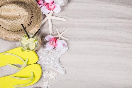 zomer accessoires, concept van de zomer