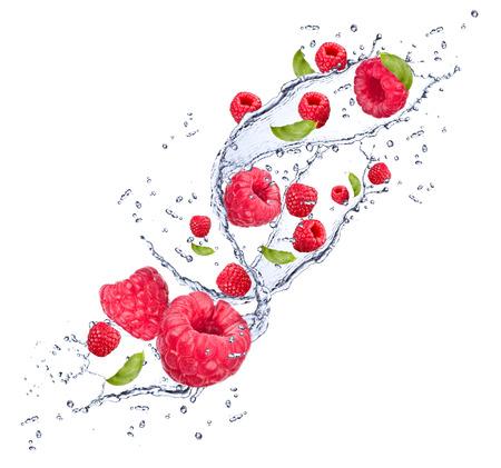 splash watter with fruits isolated on white background Stock Photo