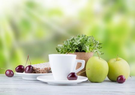 fruits juice: Including breakfast of coffee, orange juice, muesli, salad and fruits