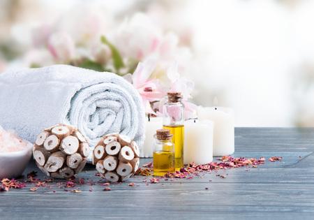 spa flower: spa massage setting
