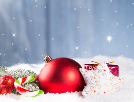 christmas gold: Christmas decoration Holiday background Stock Photo