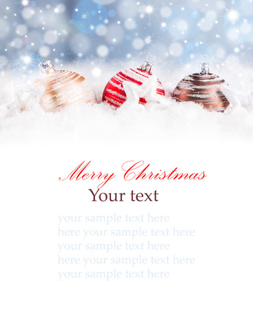 Christmas decoration Holiday background Banque d'images