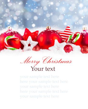 Christmas decoration Holiday background Stock Photo