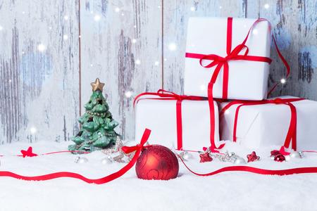 Christmas decoration Holiday background Standard-Bild