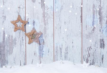 wood box: Christmas decoration Holiday background Stock Photo