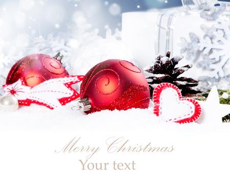 Kerstdecoratie Vakantie achtergrond met vrije ruimte voor tekst. Kerst concept