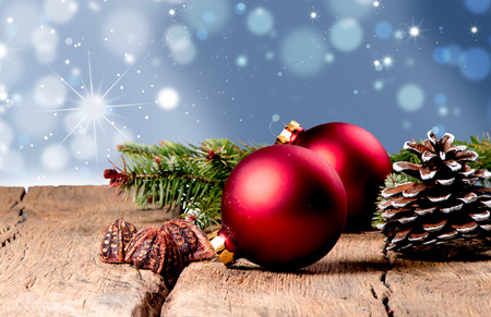Christmas decoration Holiday background with free space for text. Christmas concept