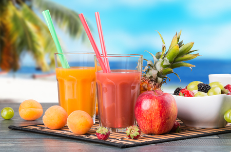 Fresh juice with fruits