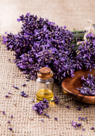 spa, lavender product, oil on nature background