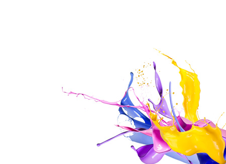 Color splash isolated on white