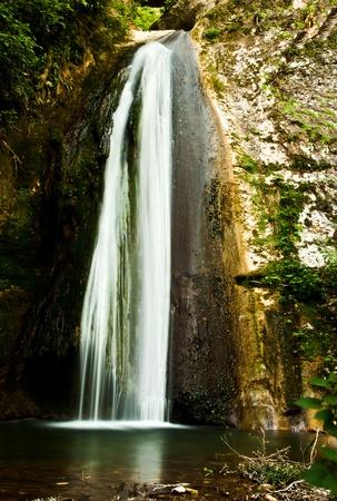 loc: Waterfall spolverona in Molina prov. Verona loc. Fumane Italy