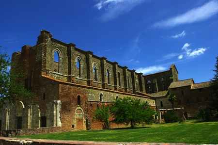 medioeval: San Galgano, abbey on Siena Italy (sword on the stone)