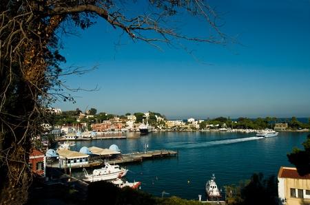 Haven van Ischia eiland