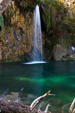 plitvice: Galovacki waterfall Plitvice Park Croatia Stock Photo