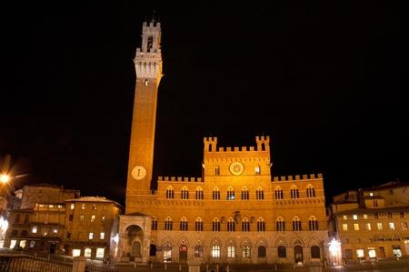 Siena (Italy) Historic centre :Piazza del Campo. photo