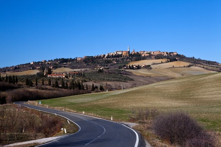 Pienza  : ancient village medioeval of Tuscany (Italy) photo