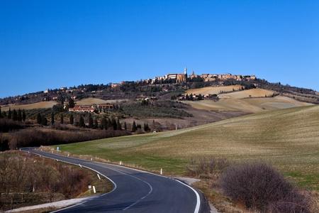 medioeval: Pienza  : ancient village medioeval of Tuscany (Italy)