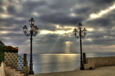 temporal: Landscape from Atrani during a temporal Stock Photo