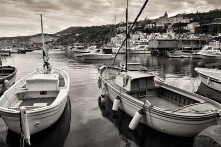 massa: Massa Lubrense, italian fishing village, port  Stock Photo