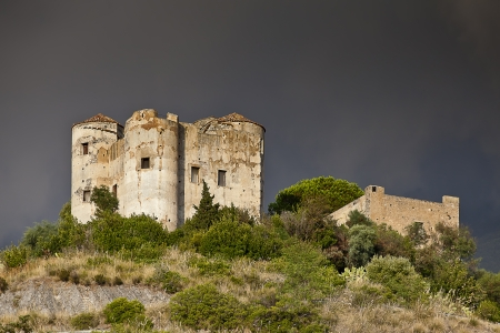 costruction: Castle of Praia a Mare  also called fortress of Praia a Mare  is a military building whose architectural design dates back to the original twelfth-thirteenth century. The castle was built on a small hill facing the sea, in a central location in the Bay of