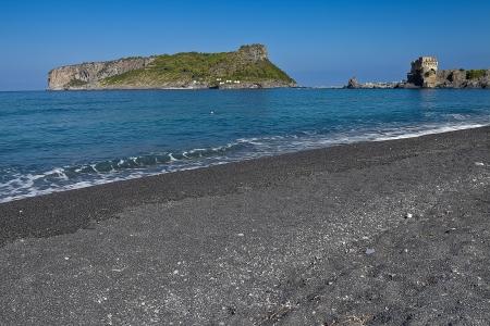 cs: Landscape Dino island and tower of Fiuzzi (Praia a Mare CS Italy) Stock Photo