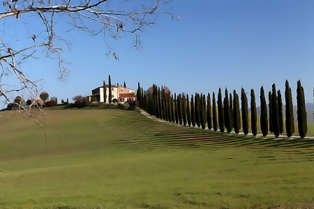 Landscape of val dOrcia  Tuscany  Italy photo
