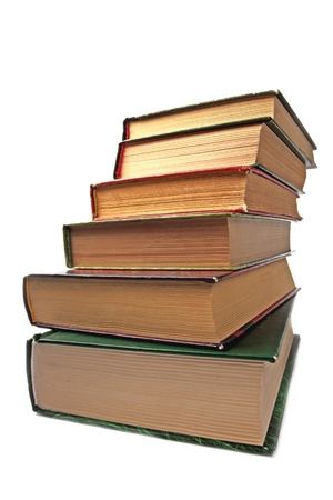 Stack of  books on white background Stock Photo
