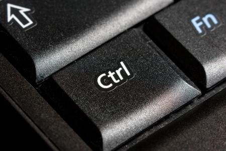 Control key on black laptop keyboard photo