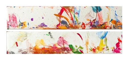 Color paint strokes horizontal elements