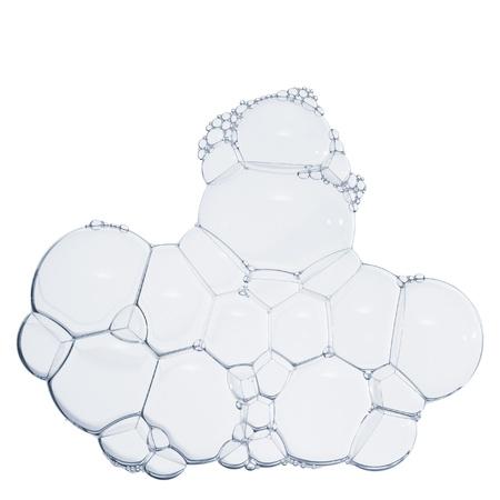Groep van zeepbellen op wit wordt geïsoleerd