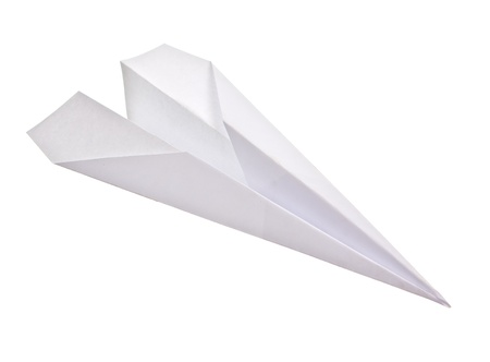 Paper plane isolated on white background Stock Photo