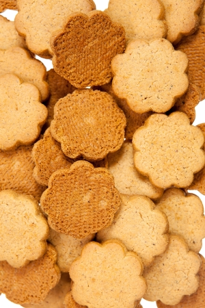 Gingerbread cookies closeup background photo