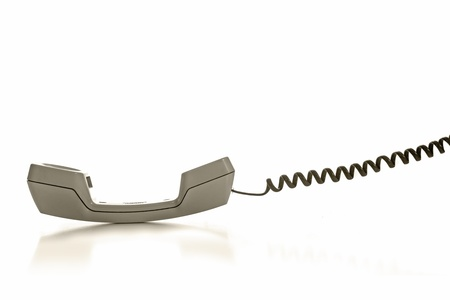 Line telephone receiver on white background Stock Photo - 19015632