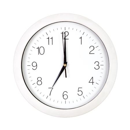 seven o'clock: Clock face showing seven oclock