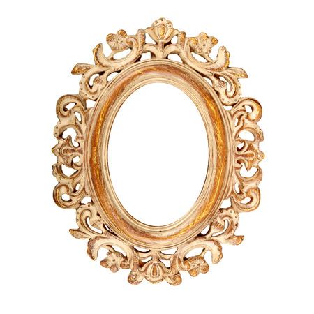 Vintage ornate oval picture frame photo
