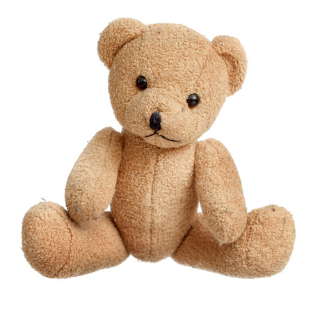Toy bear isolated over white