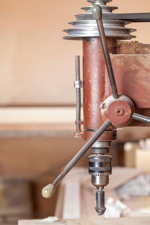 perforator: Wood perforator in workshop
