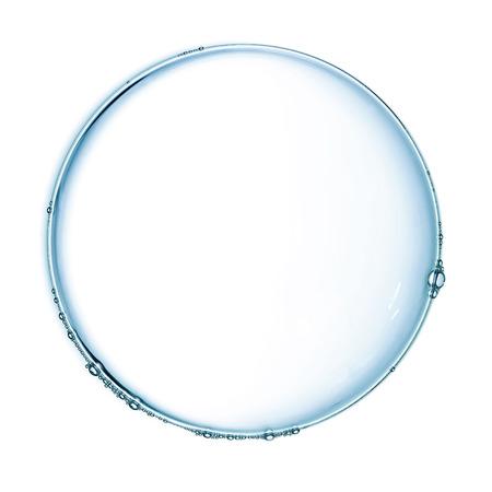 白で分離されたシャボン玉 写真素材