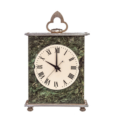 mantel: Ten oclock on isolated mantel clock on white background