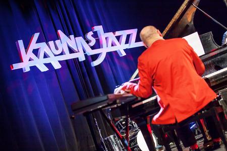 grammy: KAUNAS, LITHUANIA - APRIL 24, 2015: Wlodek Pawlik the 56th GRAMMY Awards winner performs at the stage of \\\\\\\\\\\\\\\Kaunas Jazz\\\\\\\\\\\\\\\ festival.