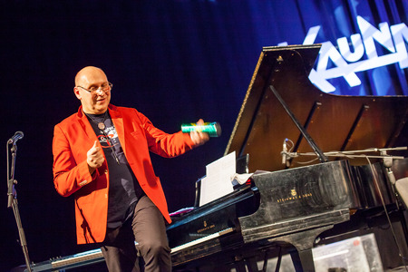 kaunas: KAUNAS, LITHUANIA - APRIL 24, 2015: Wlodek Pawlik the 56th GRAMMY Awards winner performs at the stage of \\\\\\\\\\\\\\\Kaunas Jazz\\\\\\\\\\\\\\\ festival.